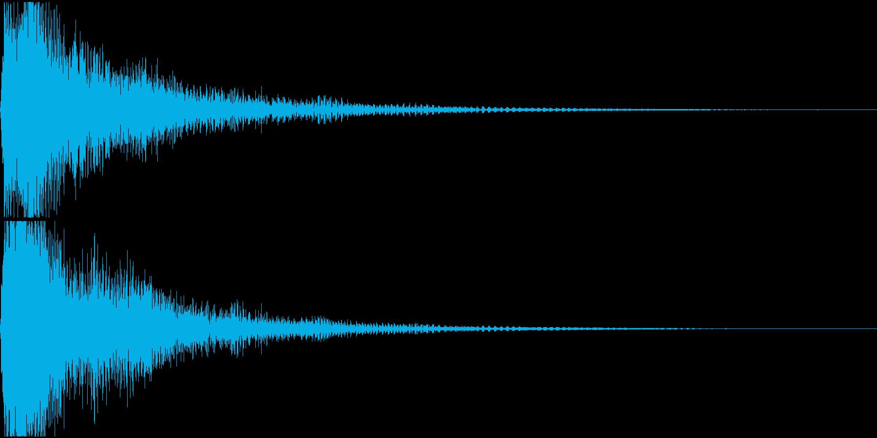 ファ単音のオーケストラルヒットの再生済みの波形