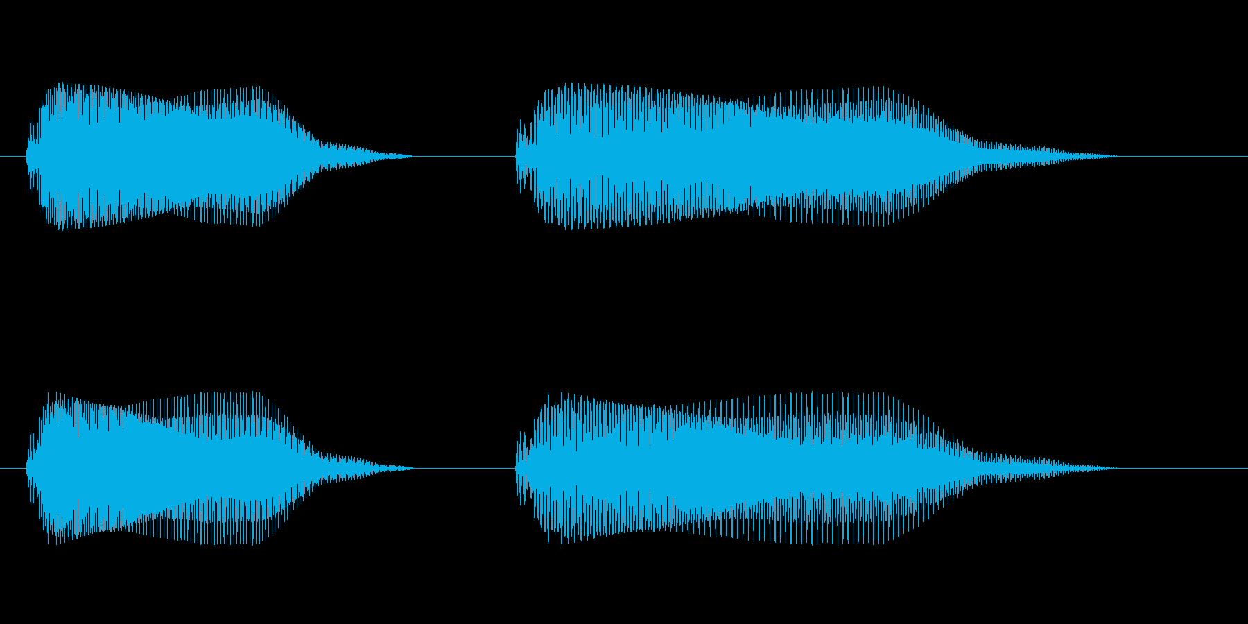 ポ・プェ・ポ・プェ(下り)の再生済みの波形