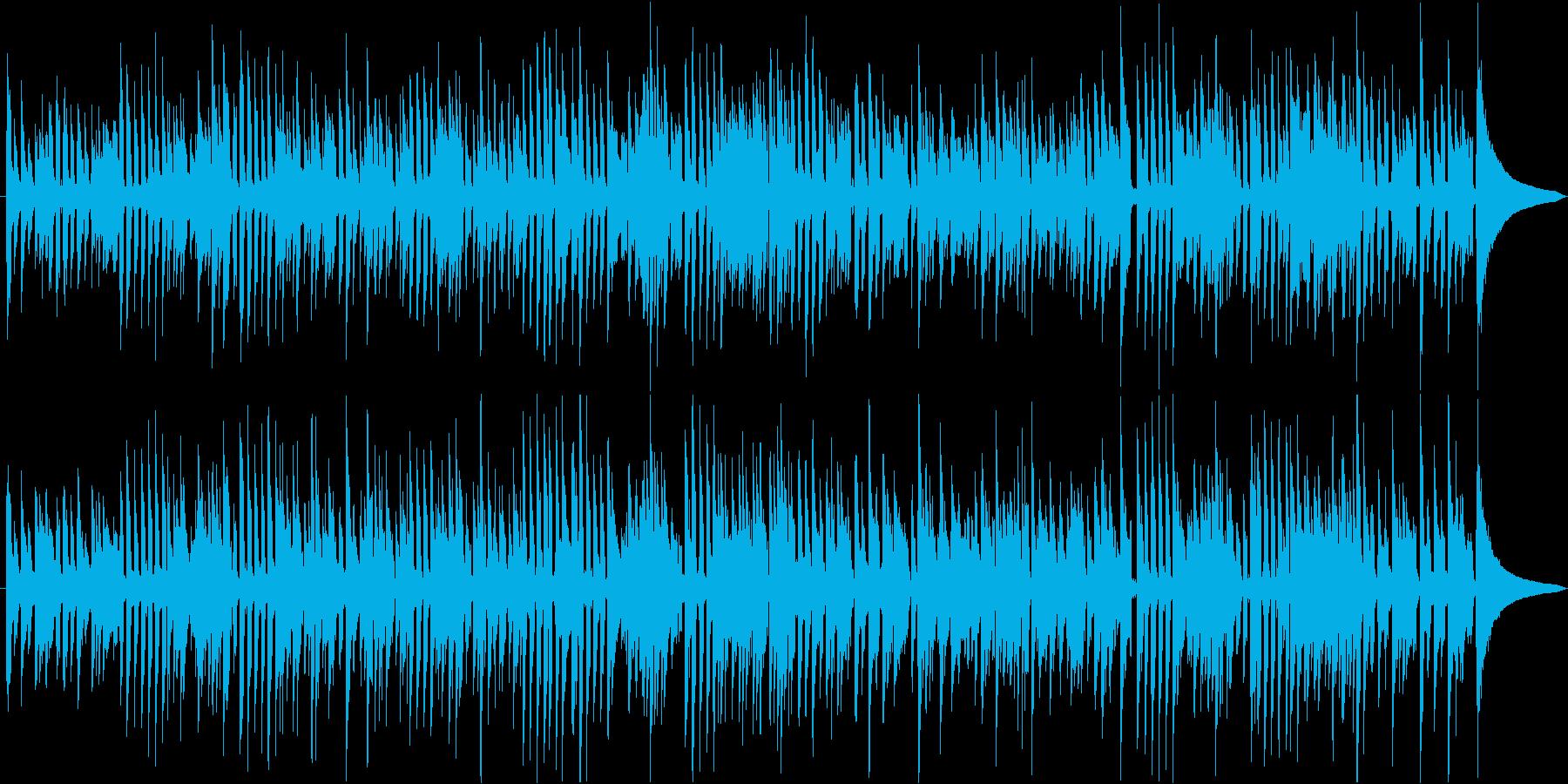 アコースティックギターのミディアム曲の再生済みの波形
