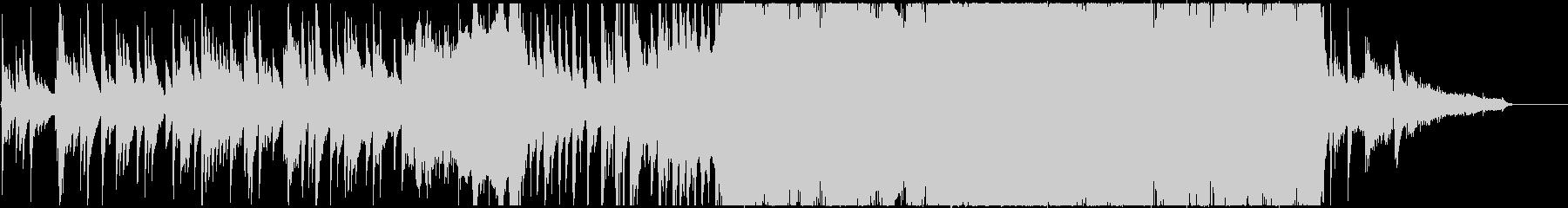 琴を中心としたドラマティックな和装の曲の未再生の波形