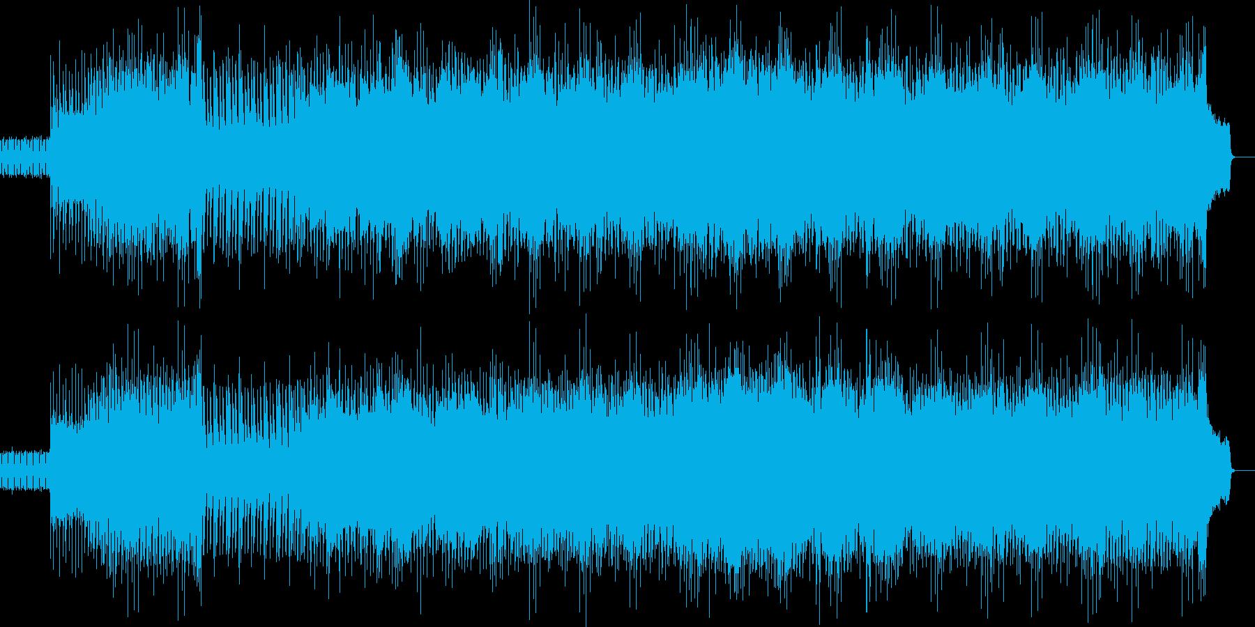 スタイリッシュな和曲の再生済みの波形