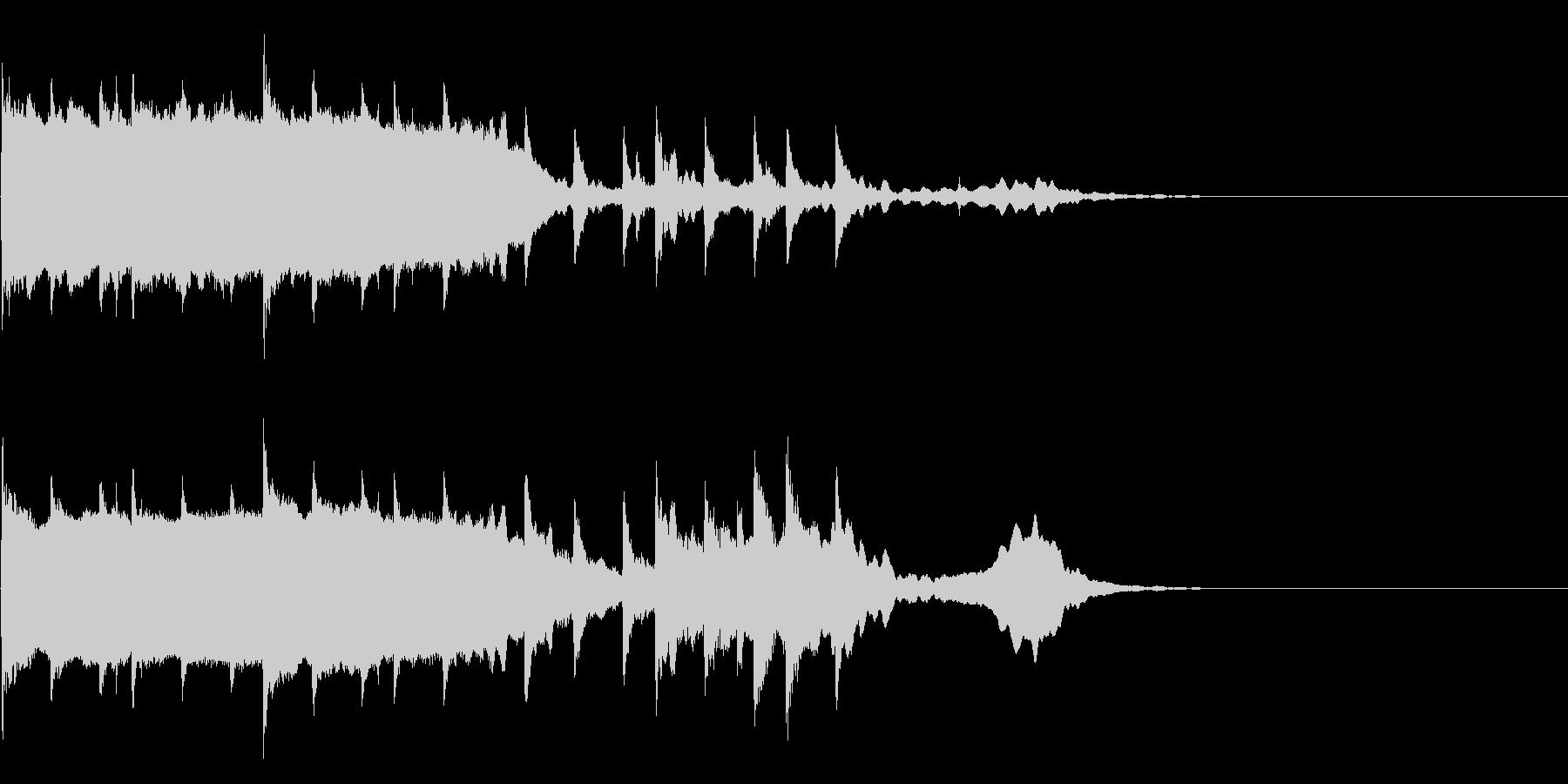 悲しく寂しい雰囲気の電子音楽の未再生の波形