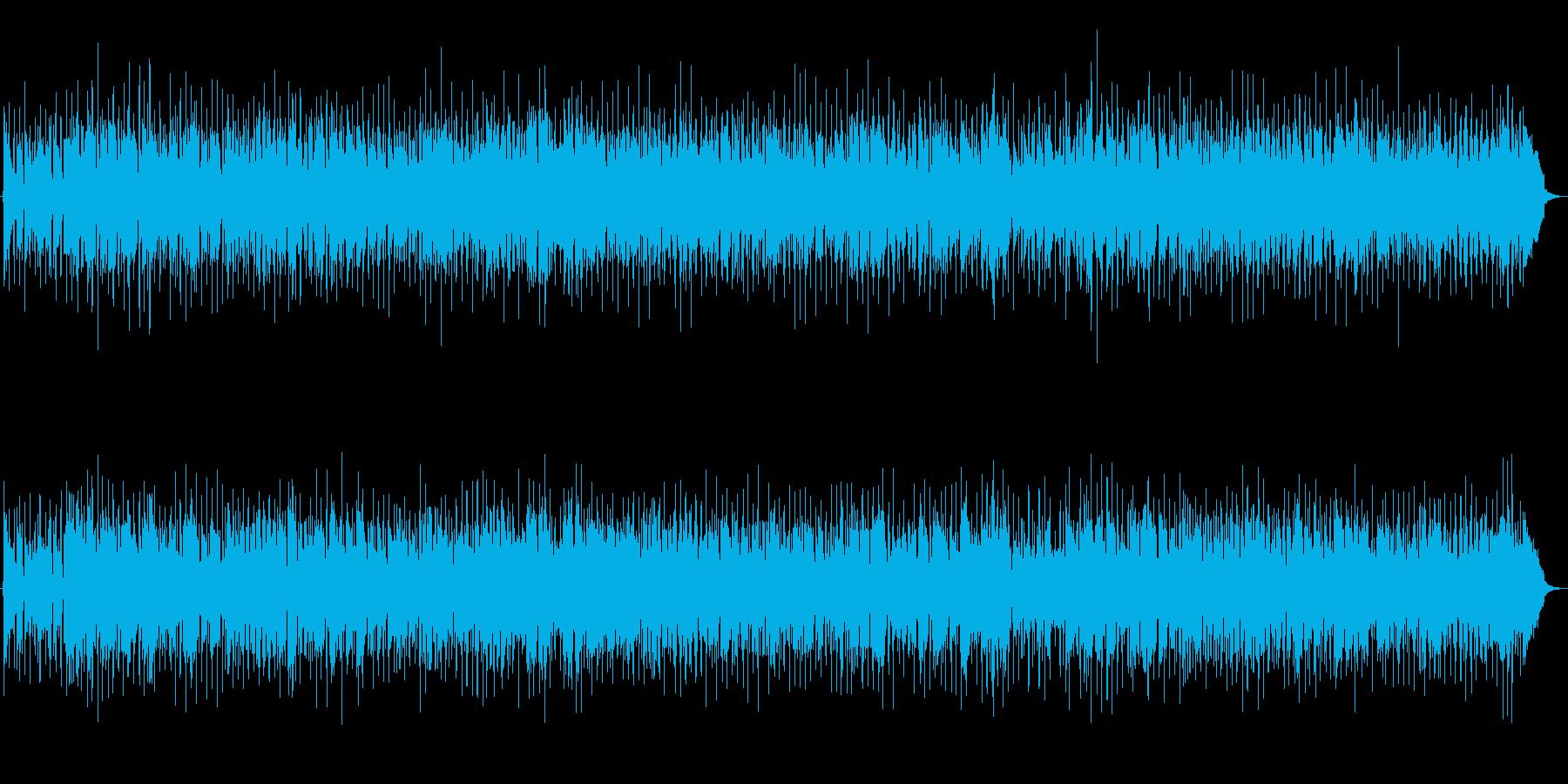 ユーロビート風な映像用BGMの再生済みの波形