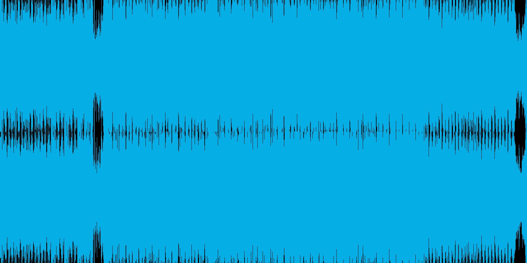 明るいハイスピードトランス【ループ素材】の再生済みの波形