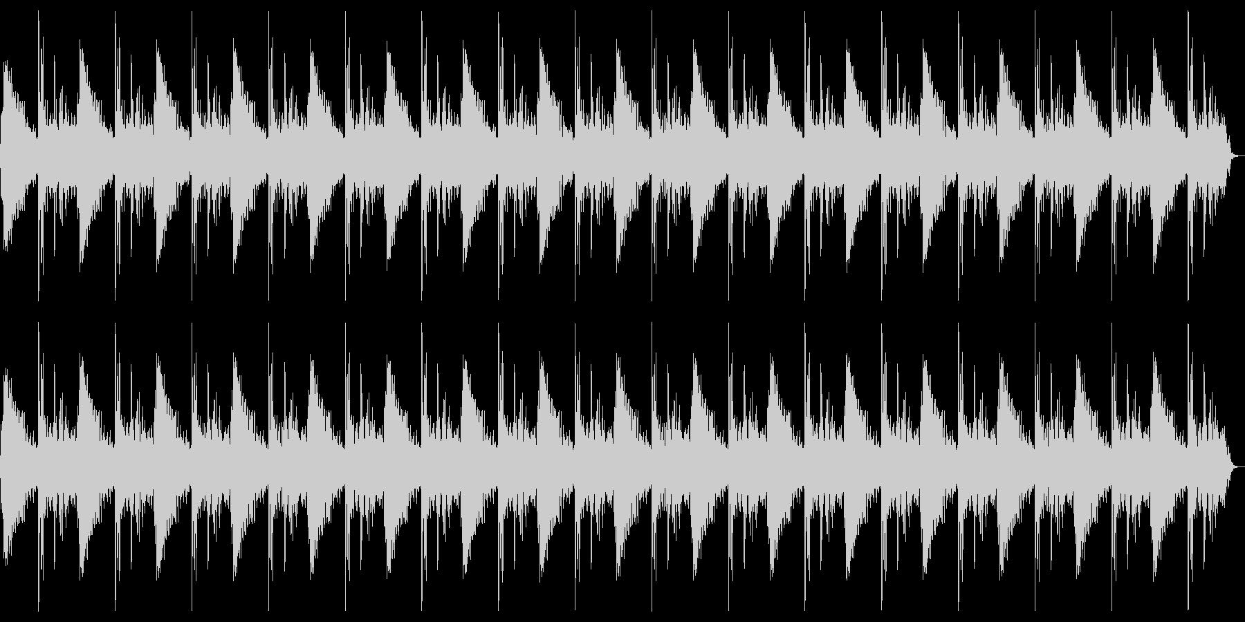 ドン、バーン(爆発)のループの未再生の波形