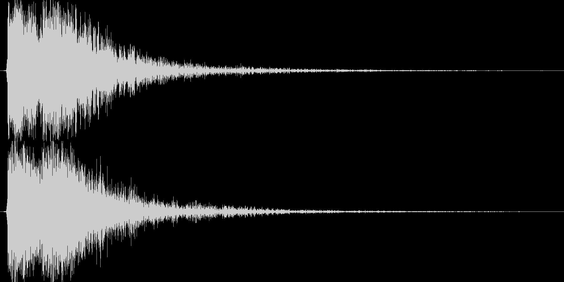 ジャジャン!!(テロップ、重大発表)の未再生の波形