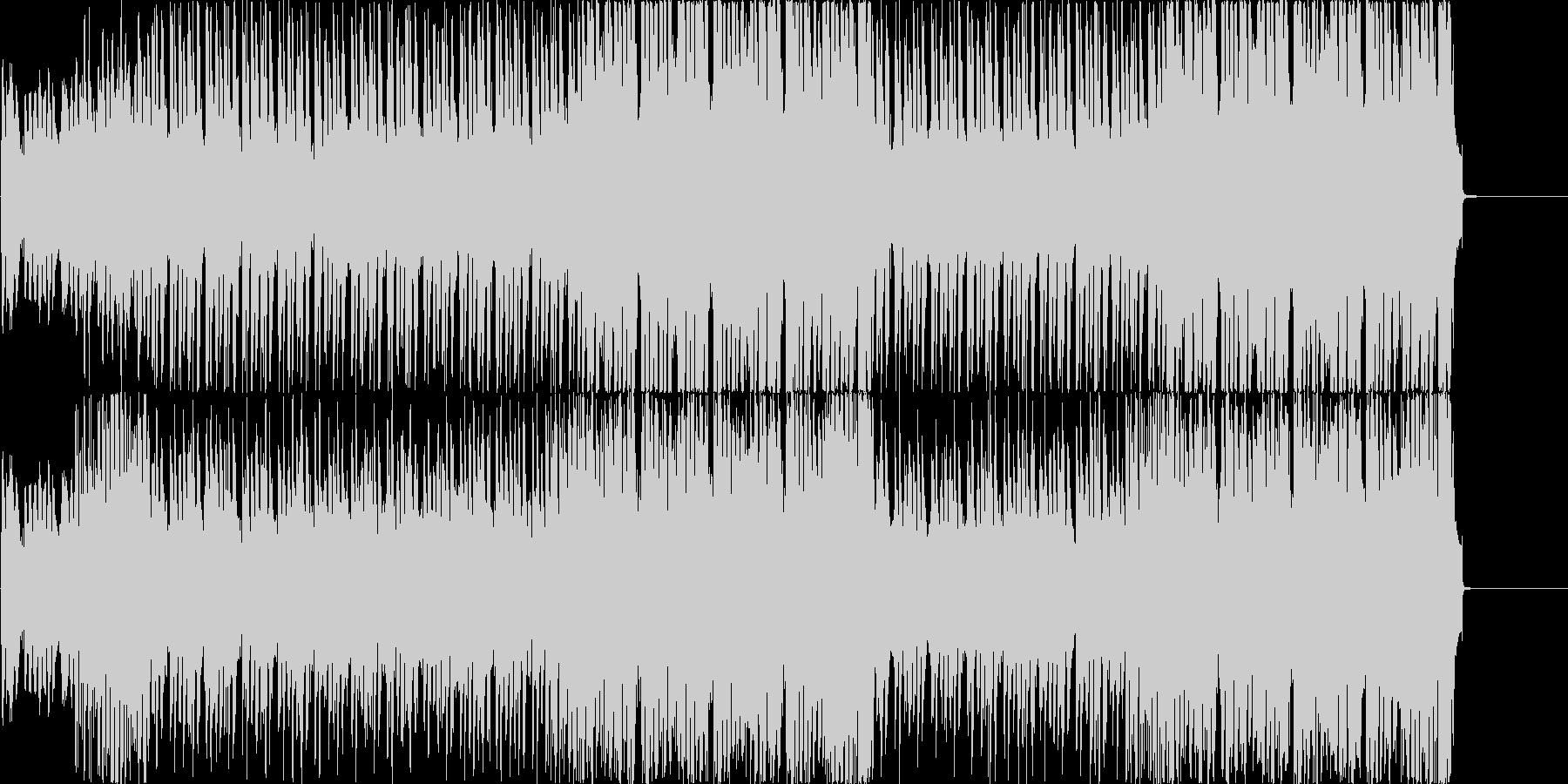 サーフなギターにコミカルなBGMの未再生の波形