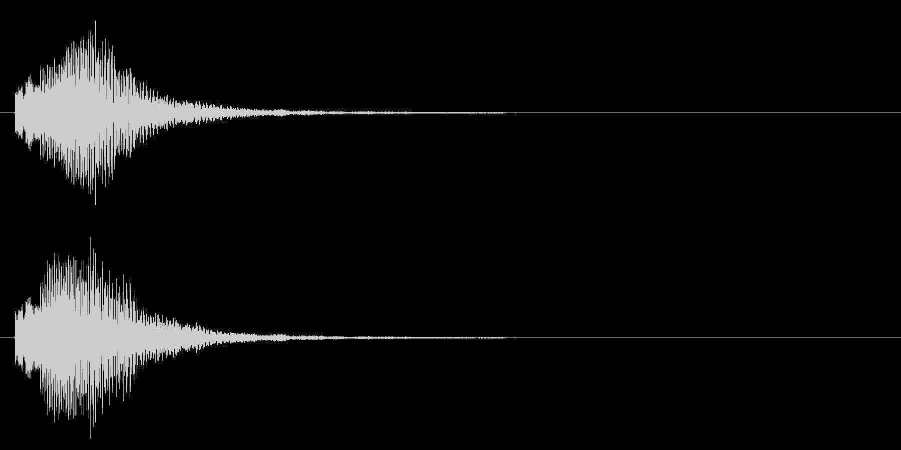 決定音/マレット/上昇系の未再生の波形
