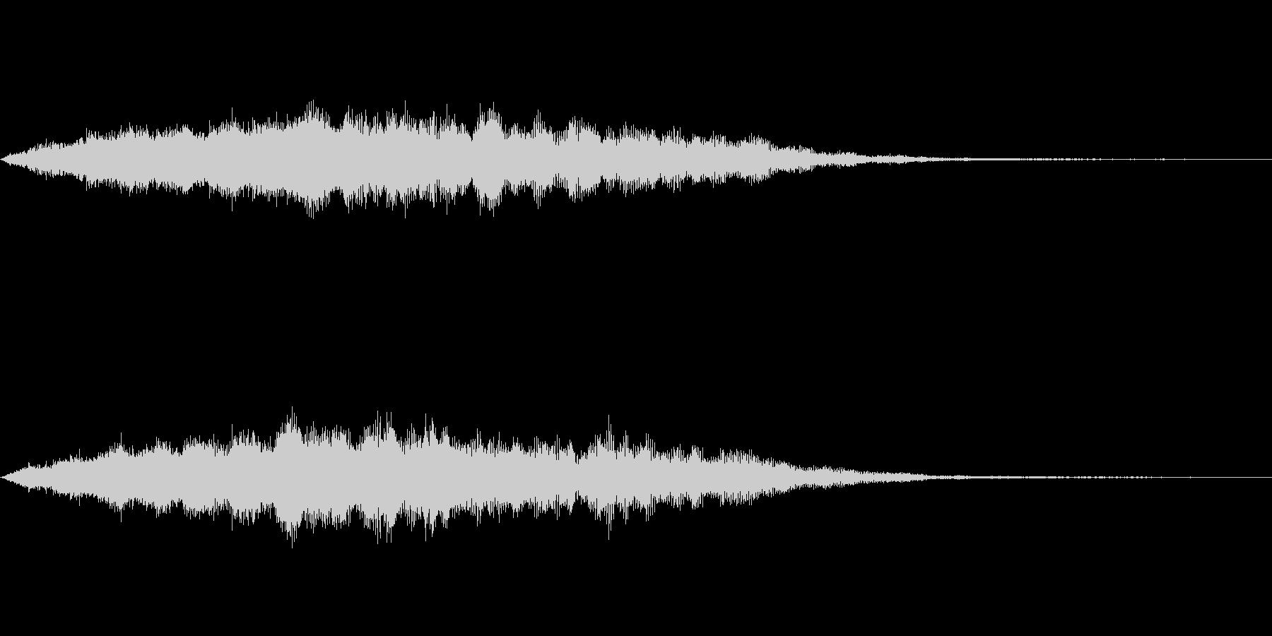スペイシーな空間音 Gメジャーの未再生の波形