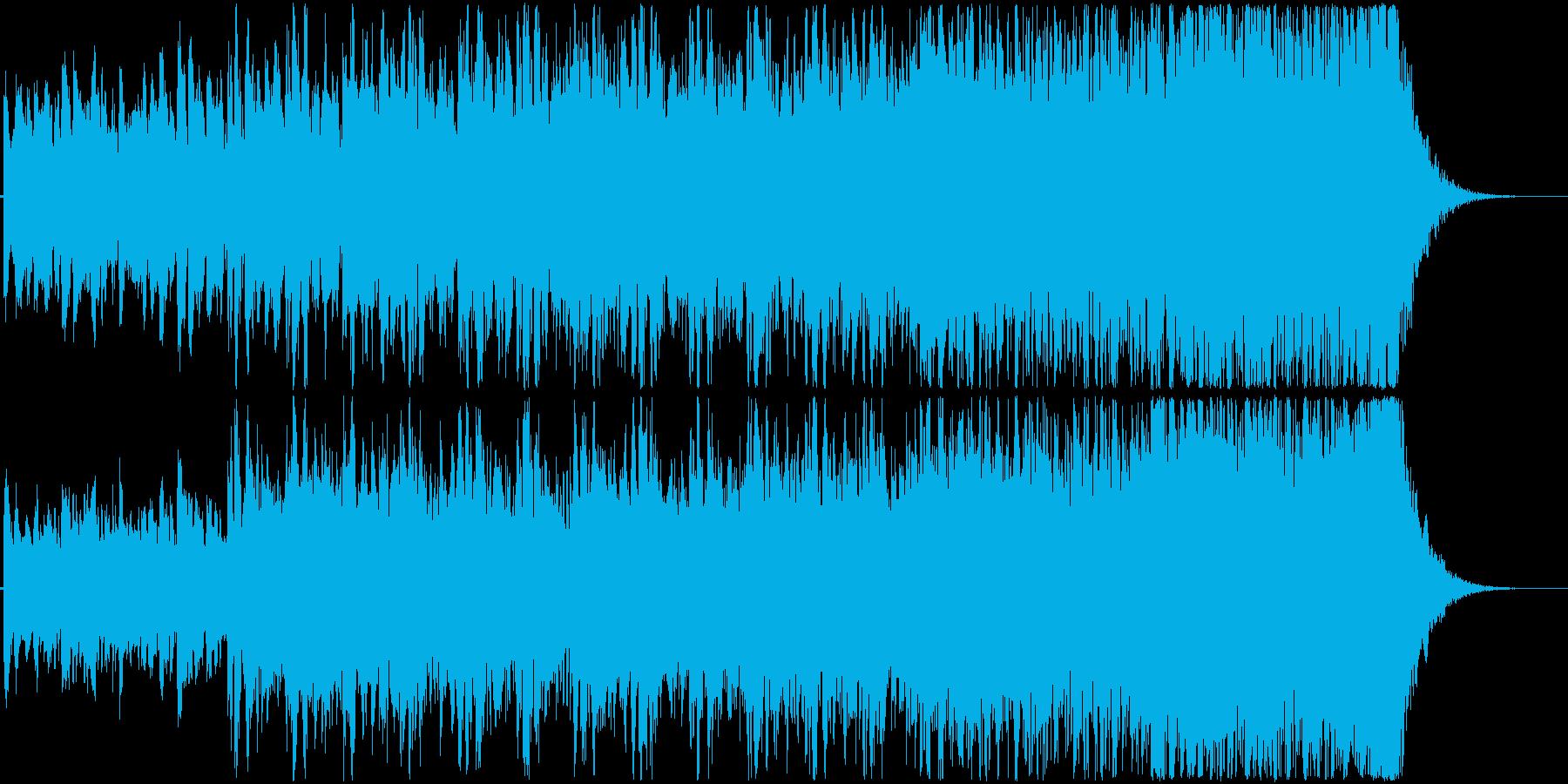 疾走感のあるケルトっぽいトラッドBGMの再生済みの波形