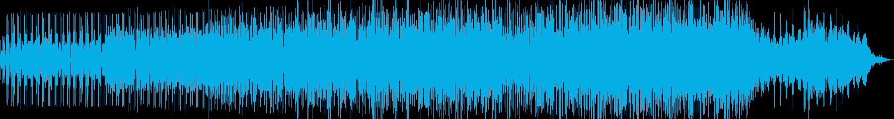 ノイジーでビート感のあるエレクトロニカの再生済みの波形
