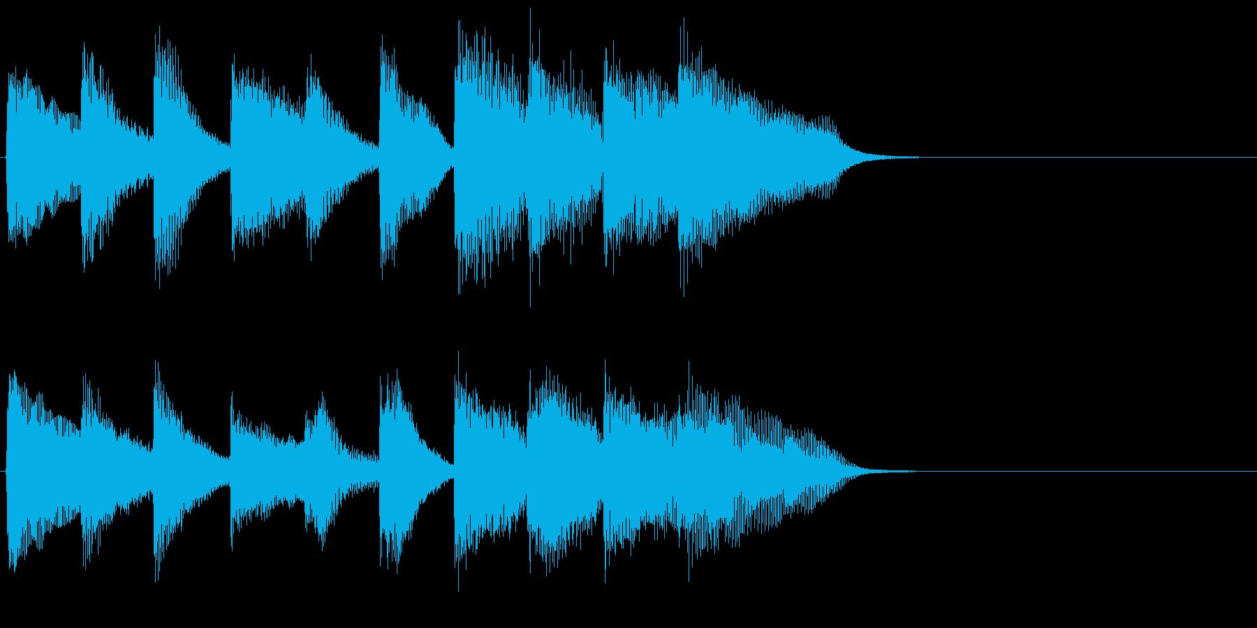 ピアノ ジングル08 かわいい お買い物の再生済みの波形