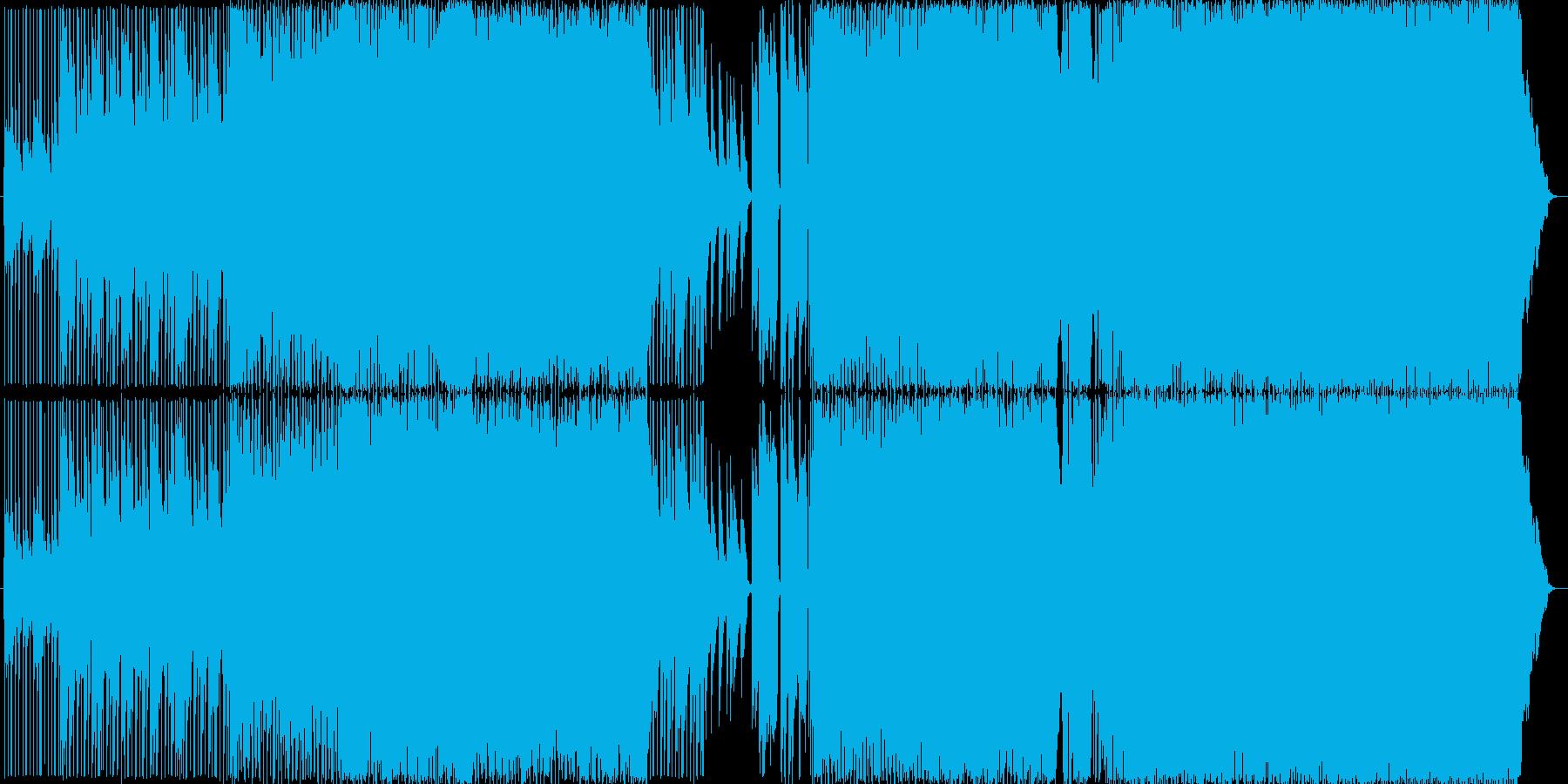 夜に合う大人なエレピ、エレキギターBGMの再生済みの波形