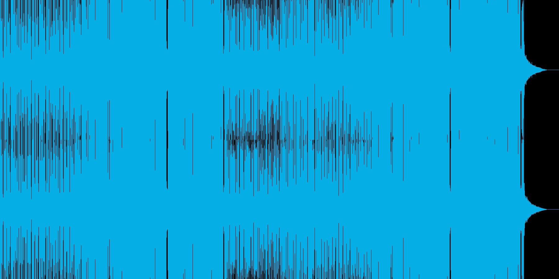 攻撃的なグリッチホップの再生済みの波形