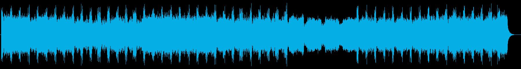 緊張感とシリアスなシンセサイザーサウンドの再生済みの波形