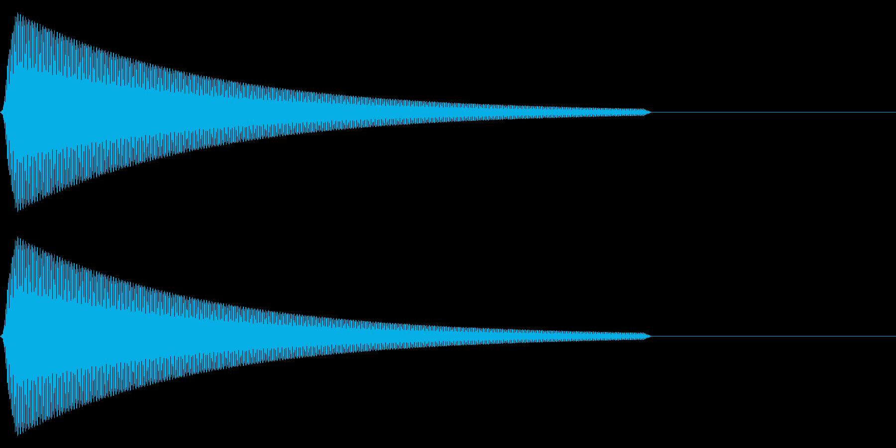 【SE】操作音08(ピ)の再生済みの波形