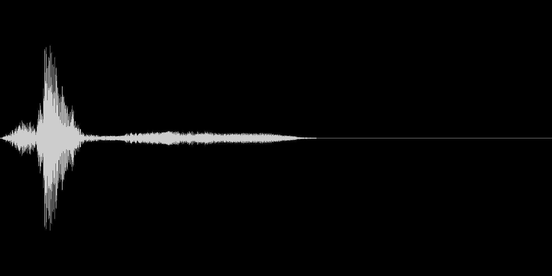 ゲーム掛け声男3フン3の未再生の波形