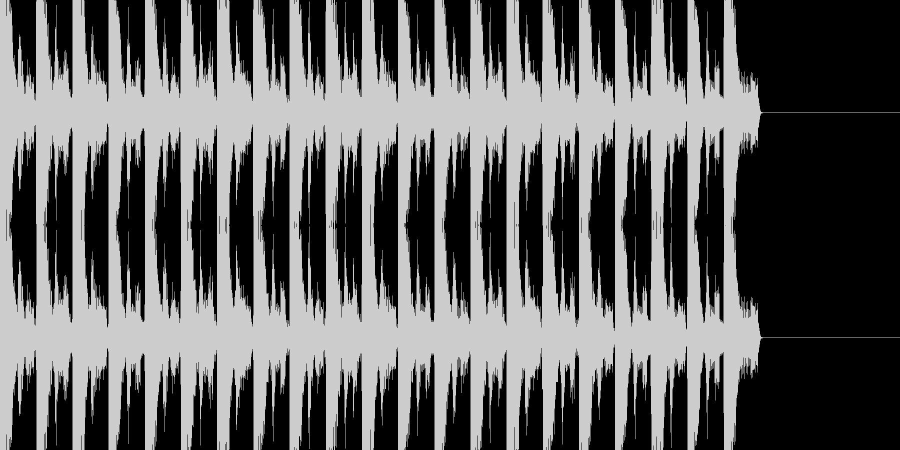ゆったりとしたBGMの未再生の波形