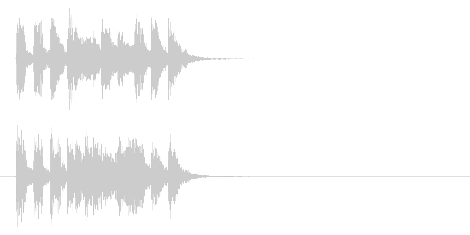 軽快でキャッチーなピアノジングルの未再生の波形
