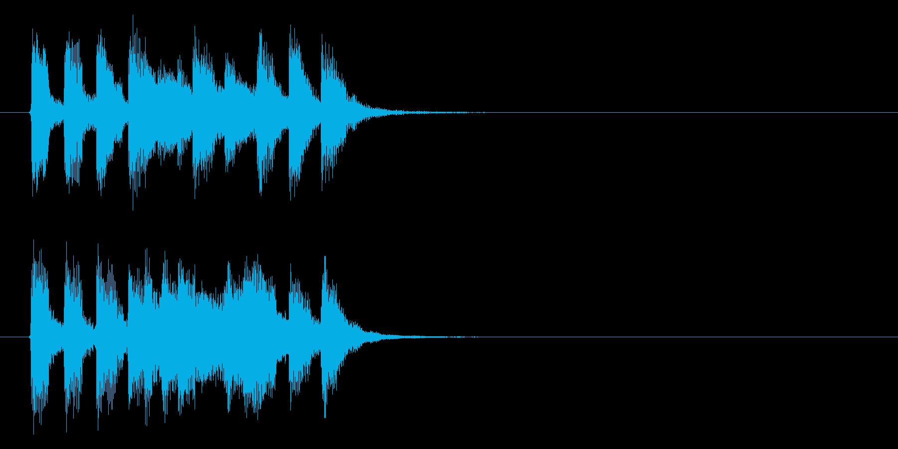 軽快でキャッチーなピアノジングルの再生済みの波形