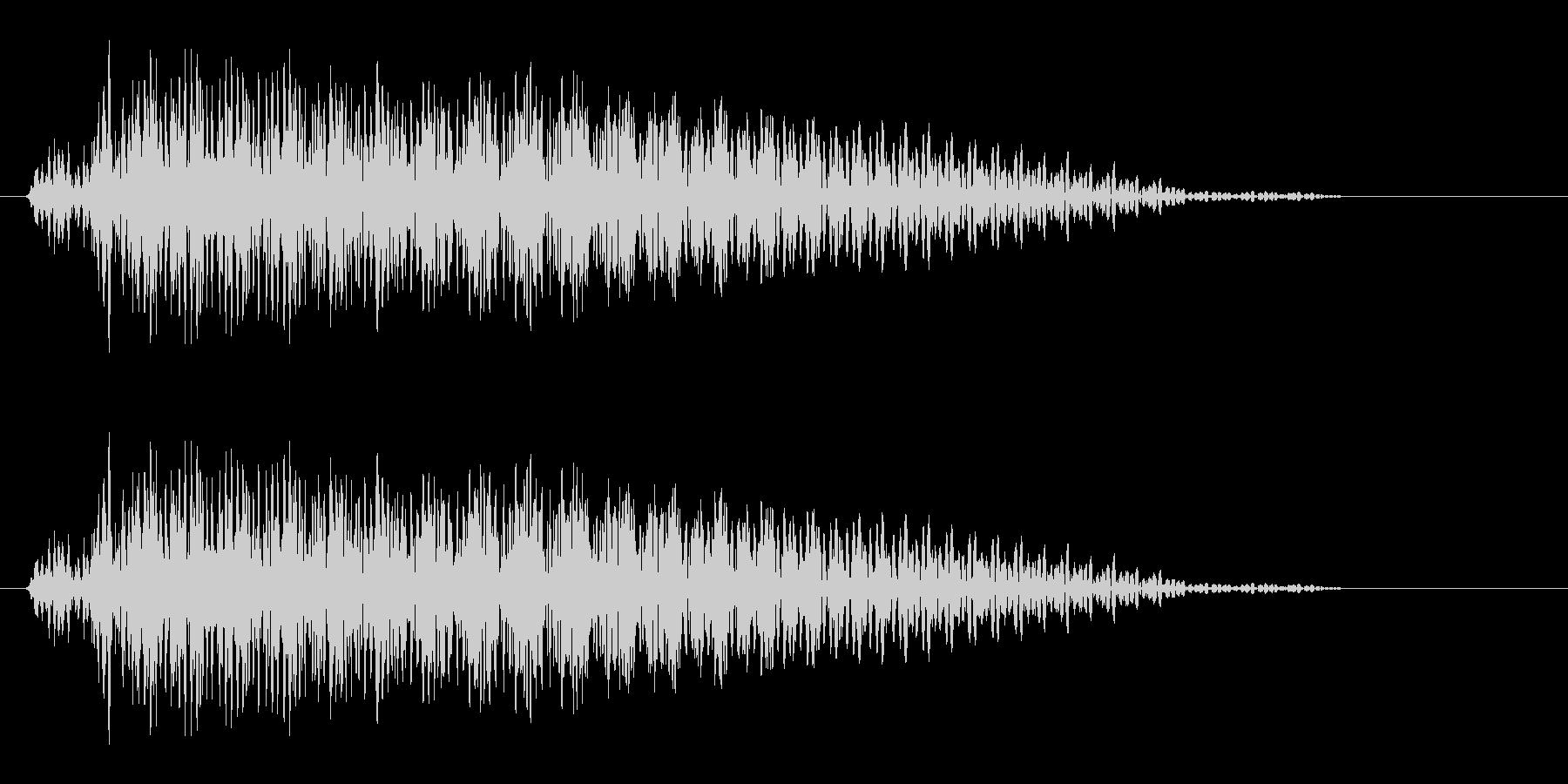 ギター音(柔らかい和音の決定音)の未再生の波形