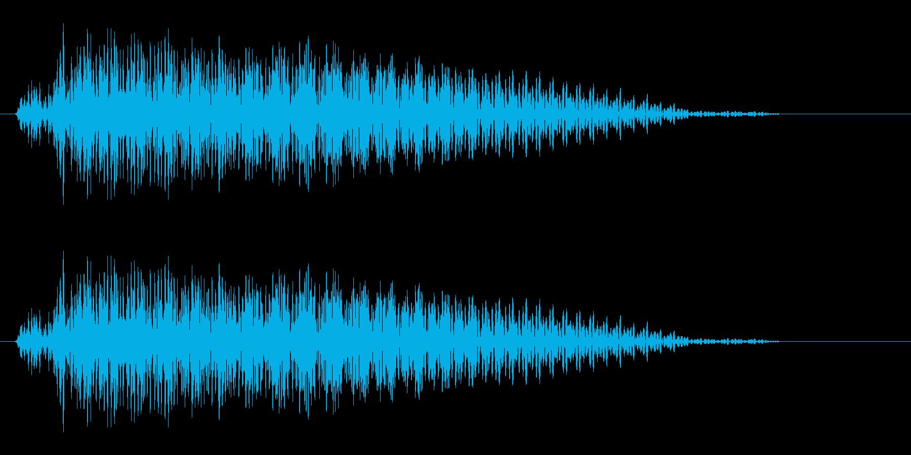 ギター音(柔らかい和音の決定音)の再生済みの波形