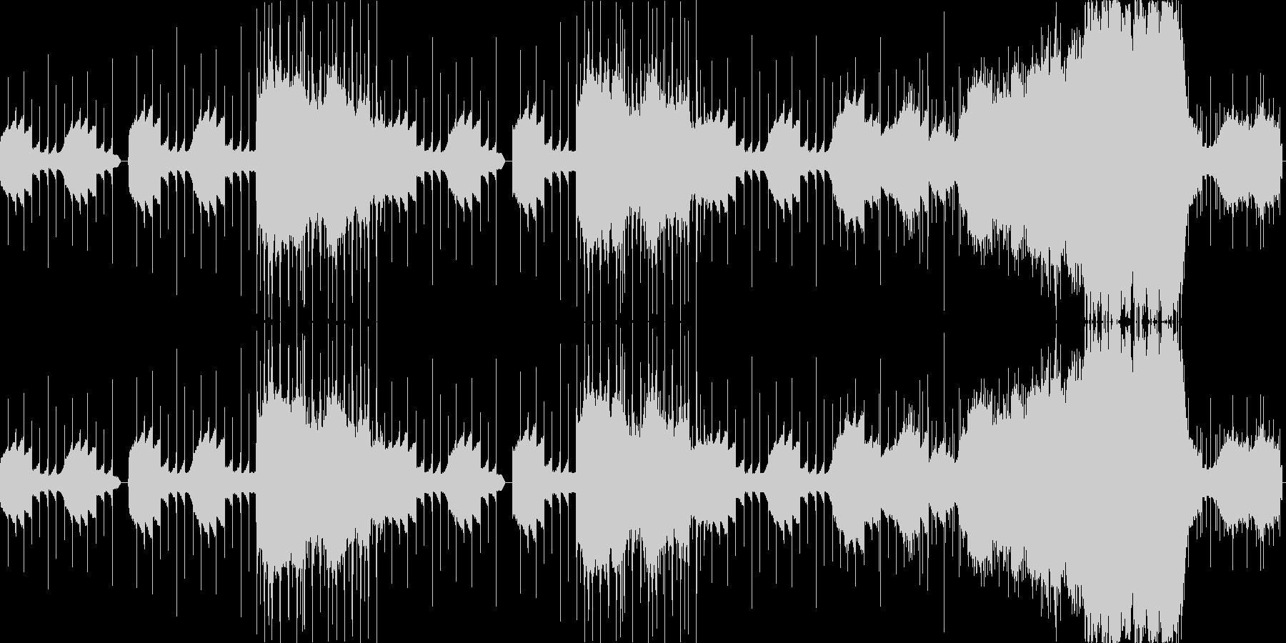 打ちこみ主体のサイケデリックの未再生の波形