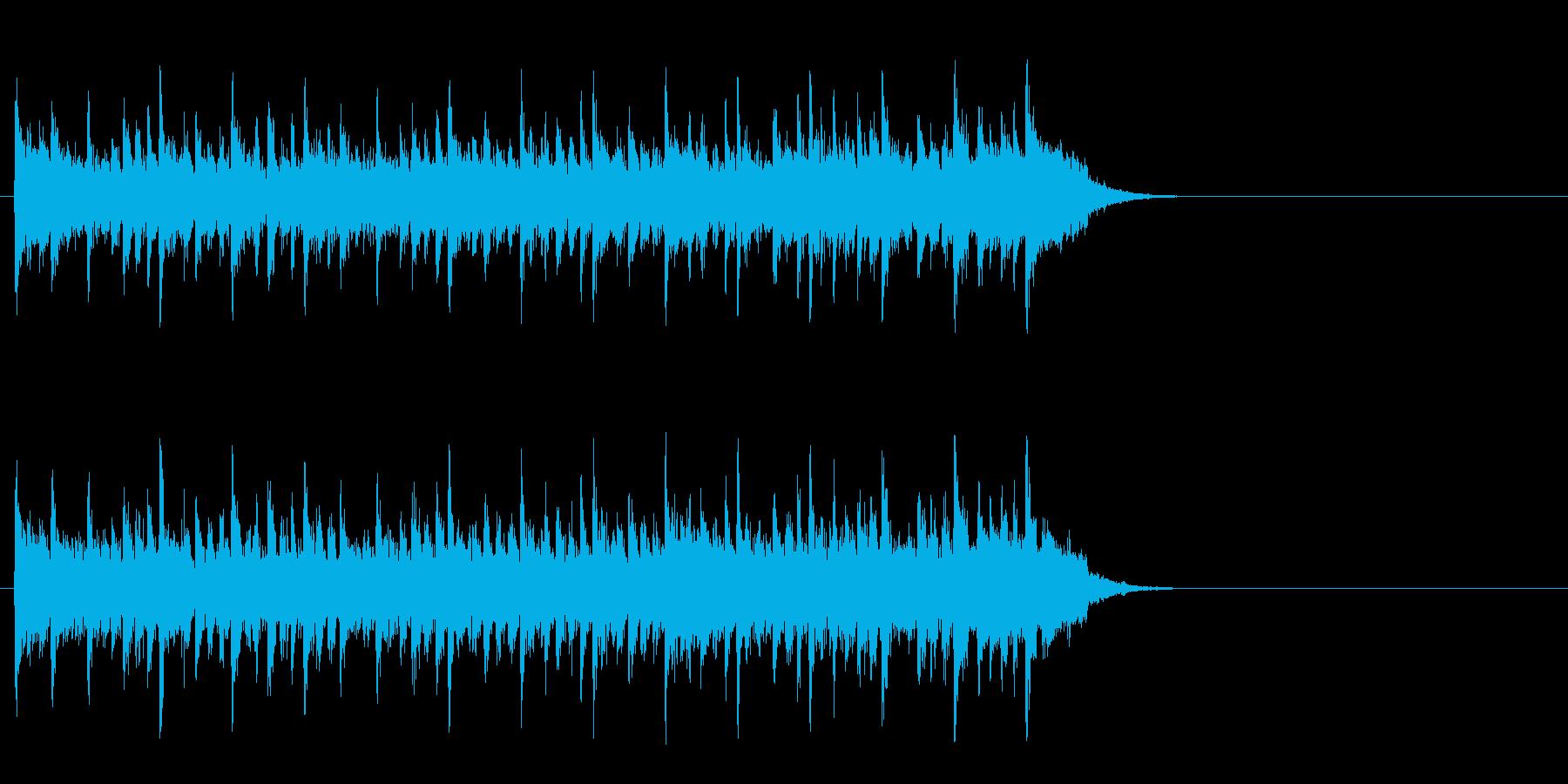楽しく軽快なポップ(Aメロ)の再生済みの波形