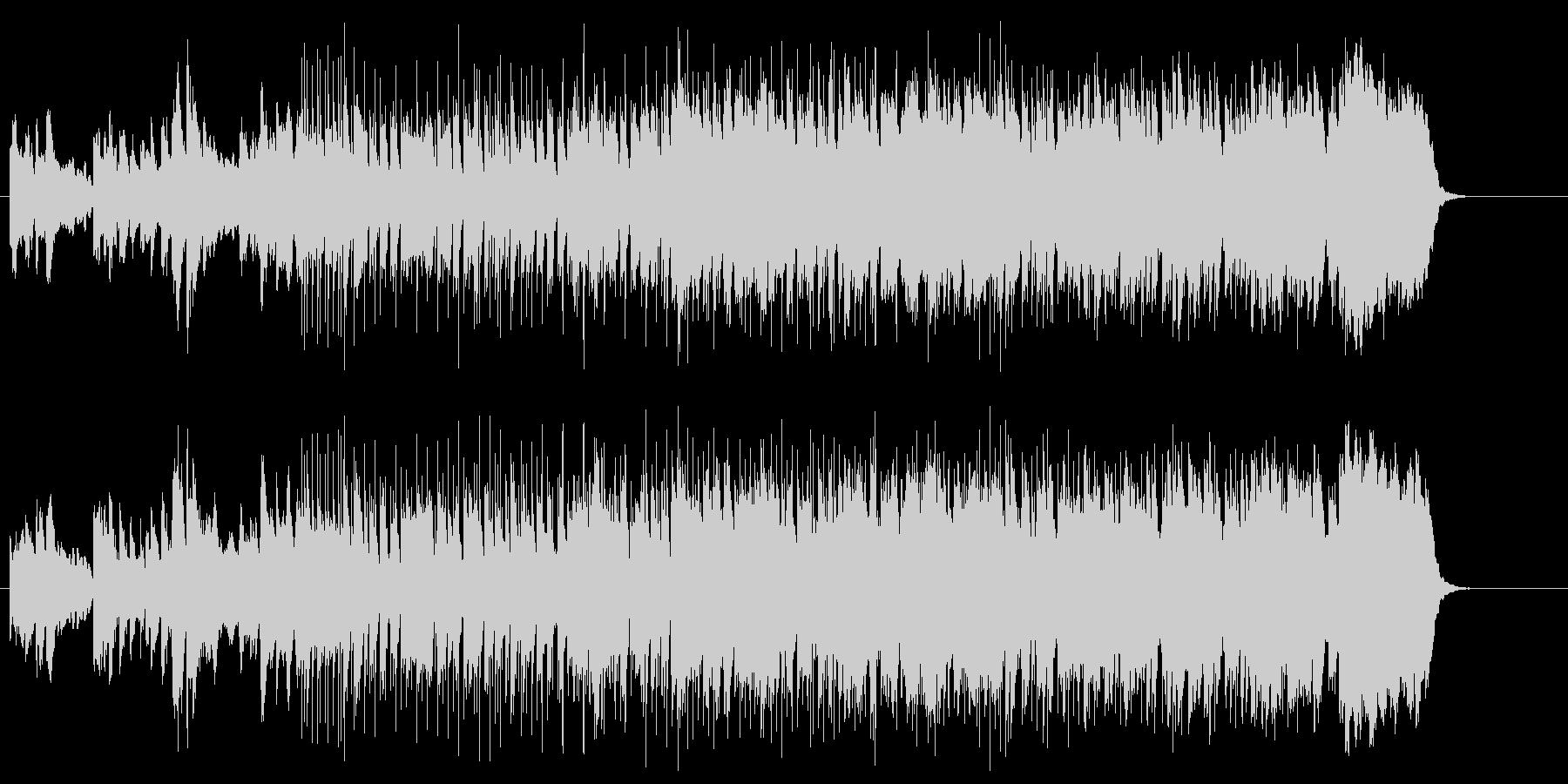 ドラマチックでシュールなエレクトロポップの未再生の波形