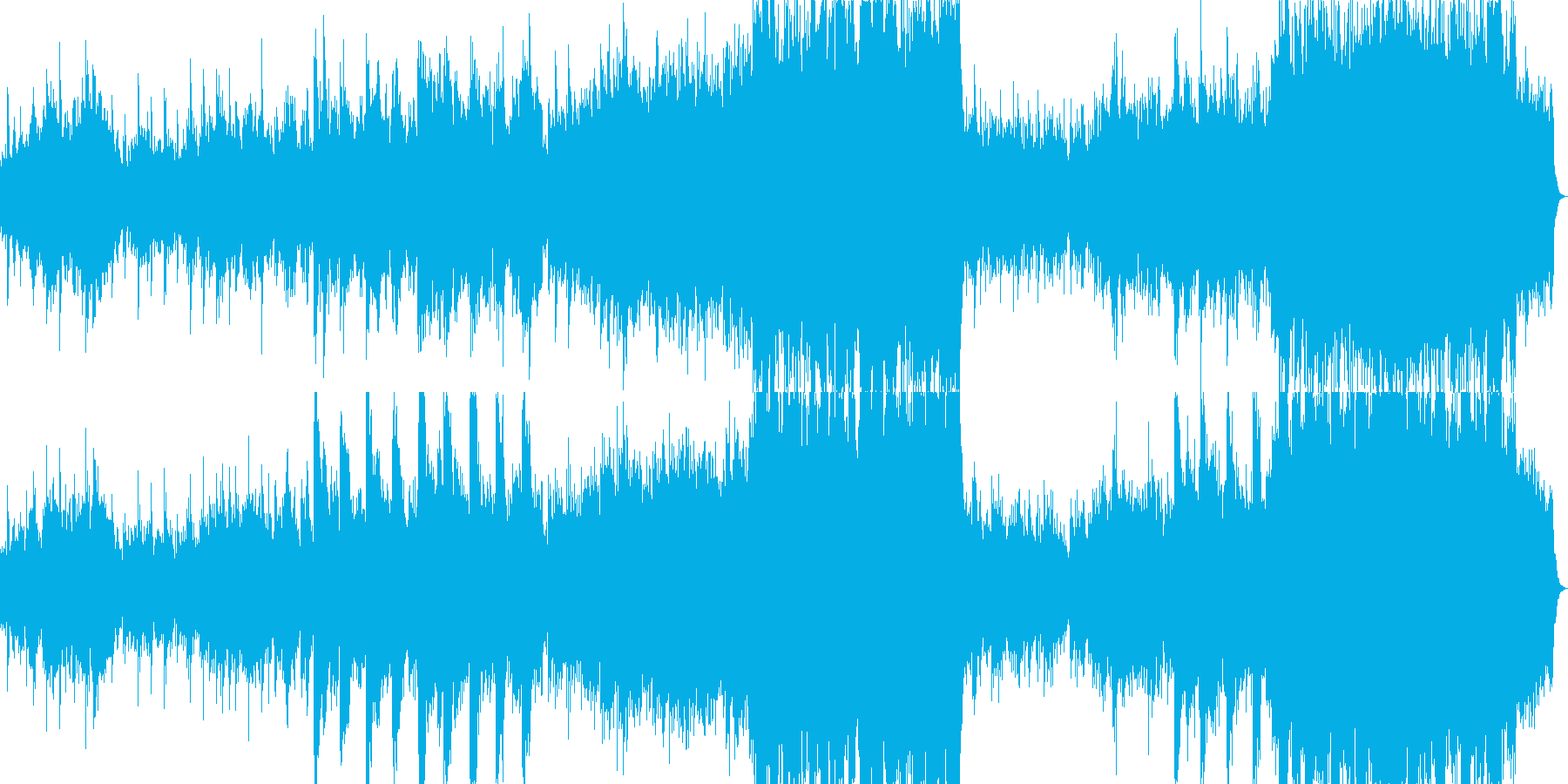 静寂さと壮大さを持つバラードの再生済みの波形