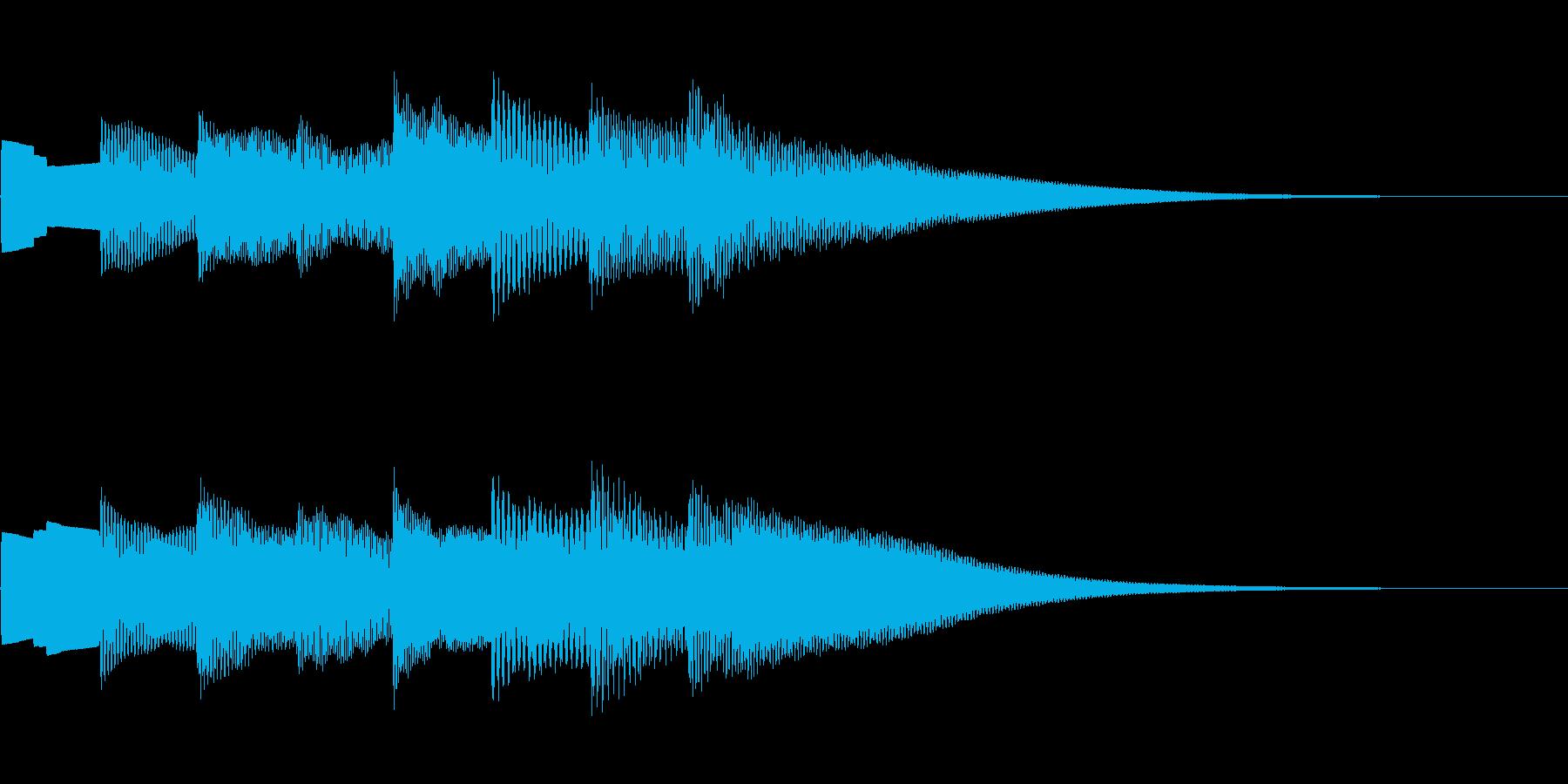 可愛いベルの音。きららラリラリ。下降系。の再生済みの波形