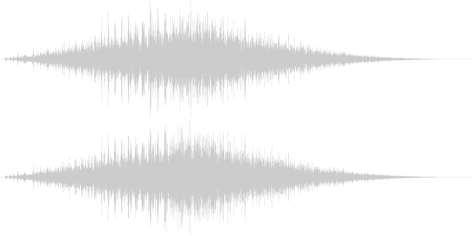 音侍SE「シュルシュル」石を擦った鈴の音の未再生の波形