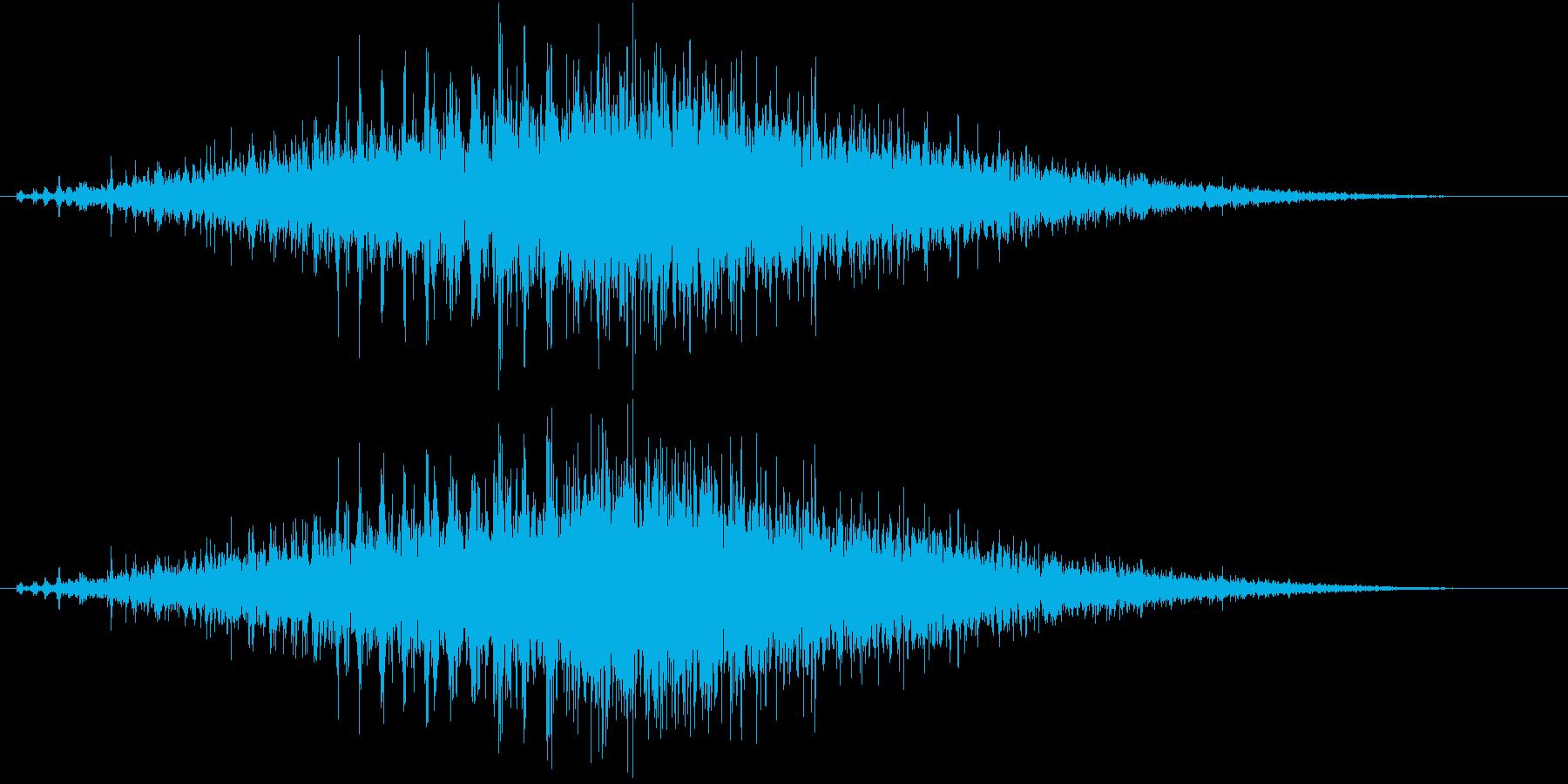 音侍SE「シュルシュル」石を擦った鈴の音の再生済みの波形