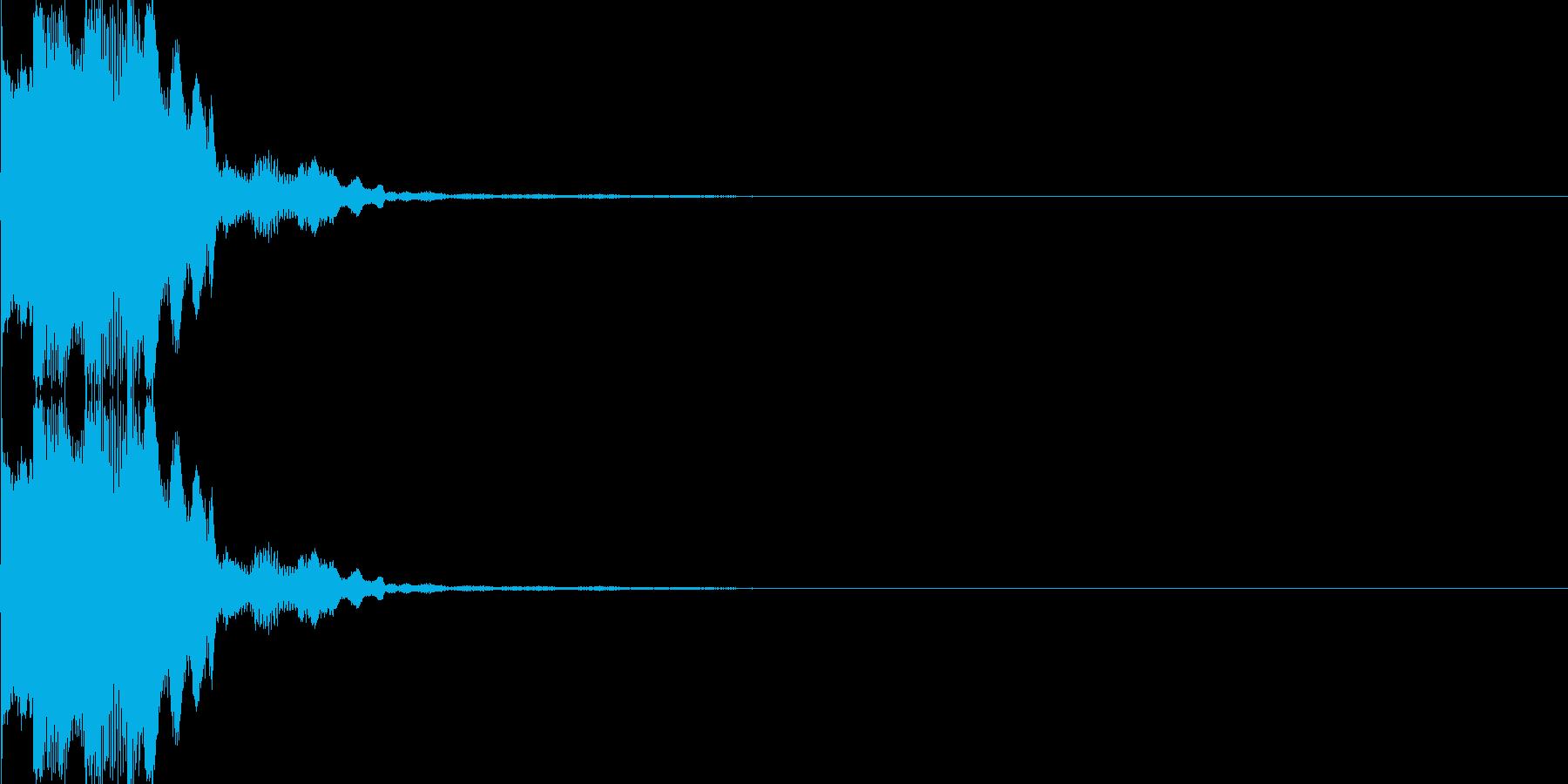 電子音(チリン)の再生済みの波形
