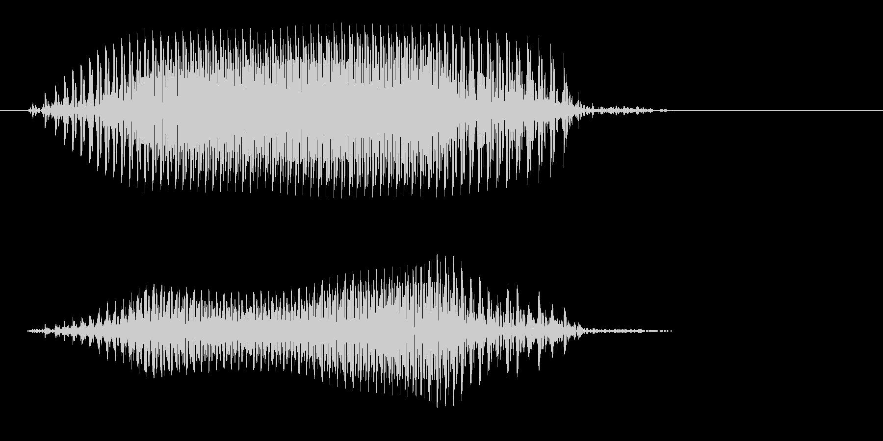 カァというカラスの鳴き声の未再生の波形