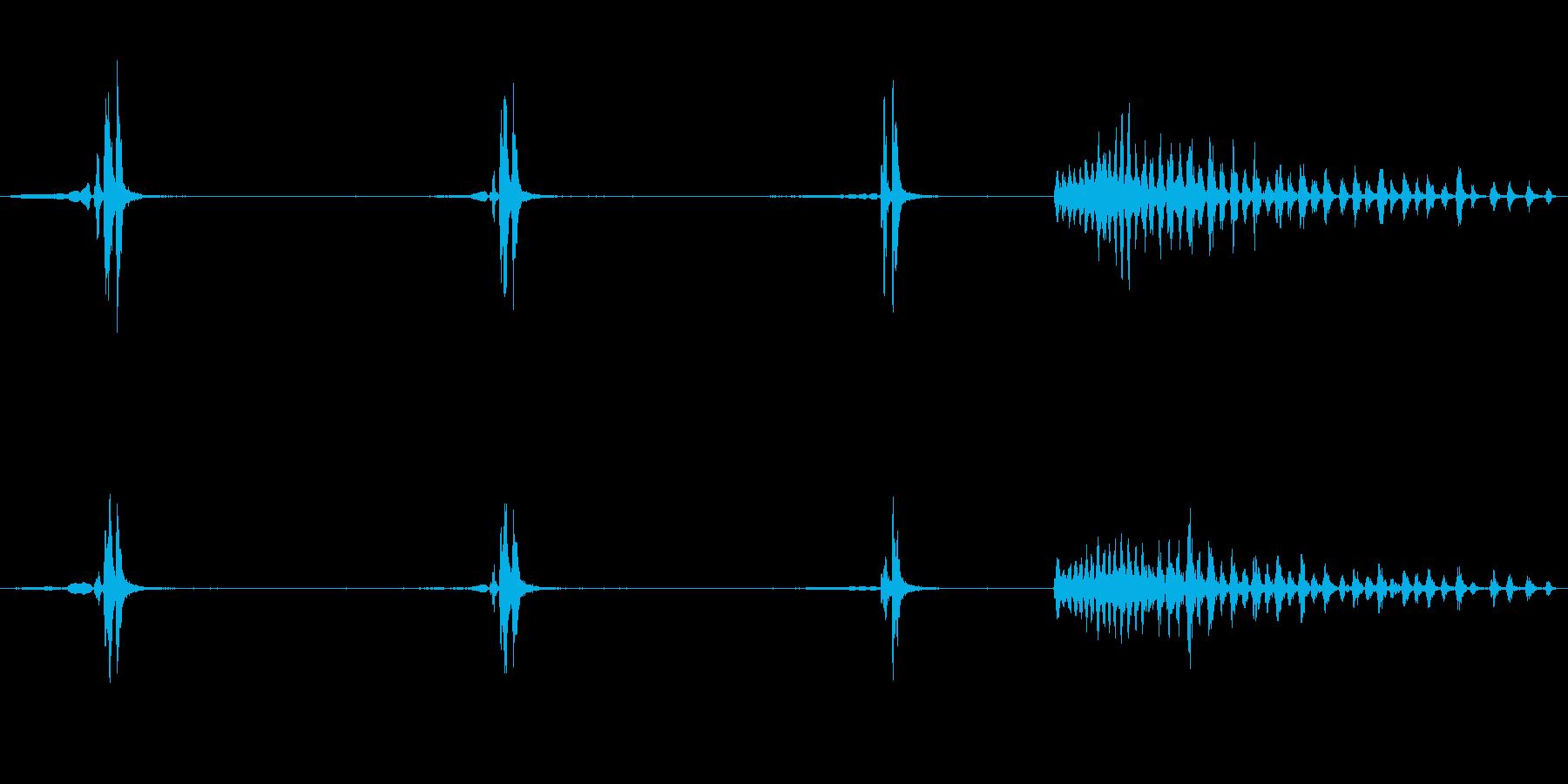 ウグイスのさえずり2の再生済みの波形