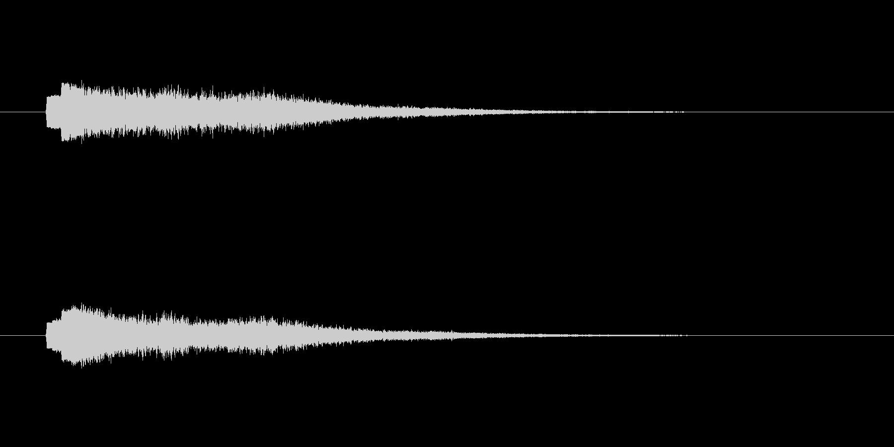 シャーーーン(幻想的な決定音、流れ星)の未再生の波形