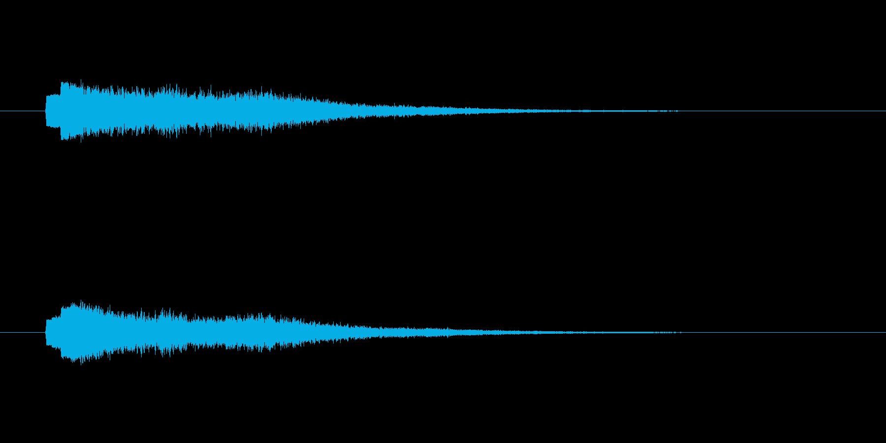 シャーーーン(幻想的な決定音、流れ星)の再生済みの波形