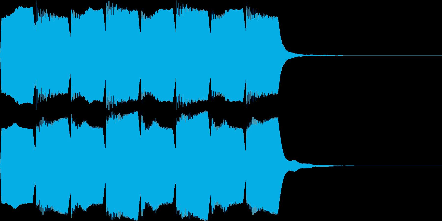 救急車のサイレンE(ハーモニック・短)の再生済みの波形