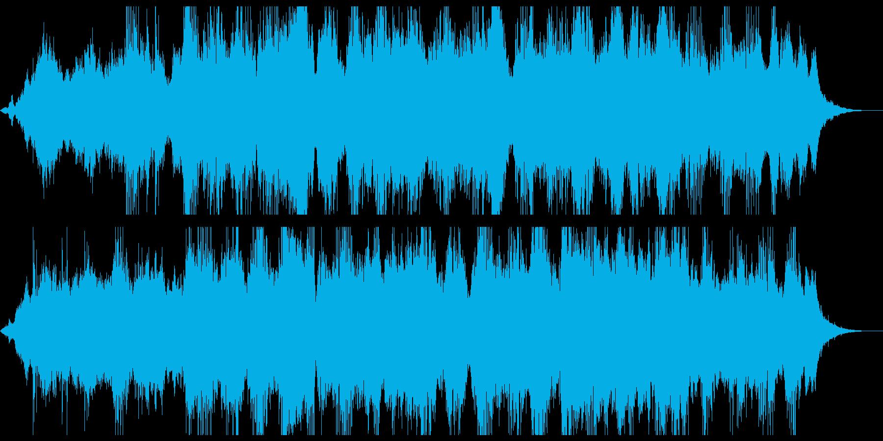 暗い雰囲気のアンビエントなBGMの再生済みの波形
