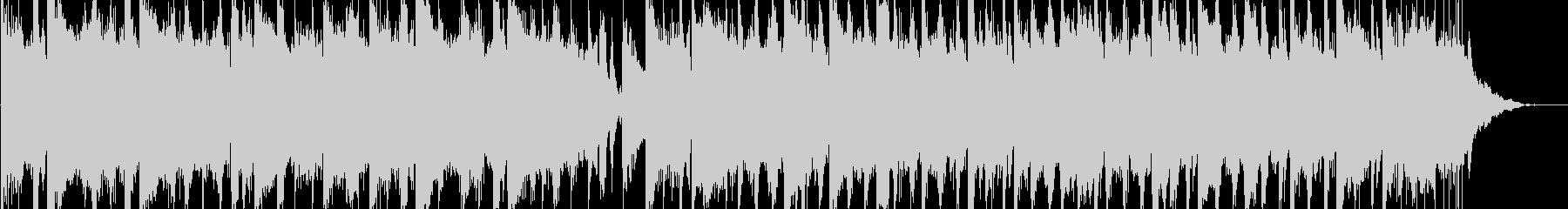 奇妙でちょっとホラーな浮遊感あるBGMの未再生の波形