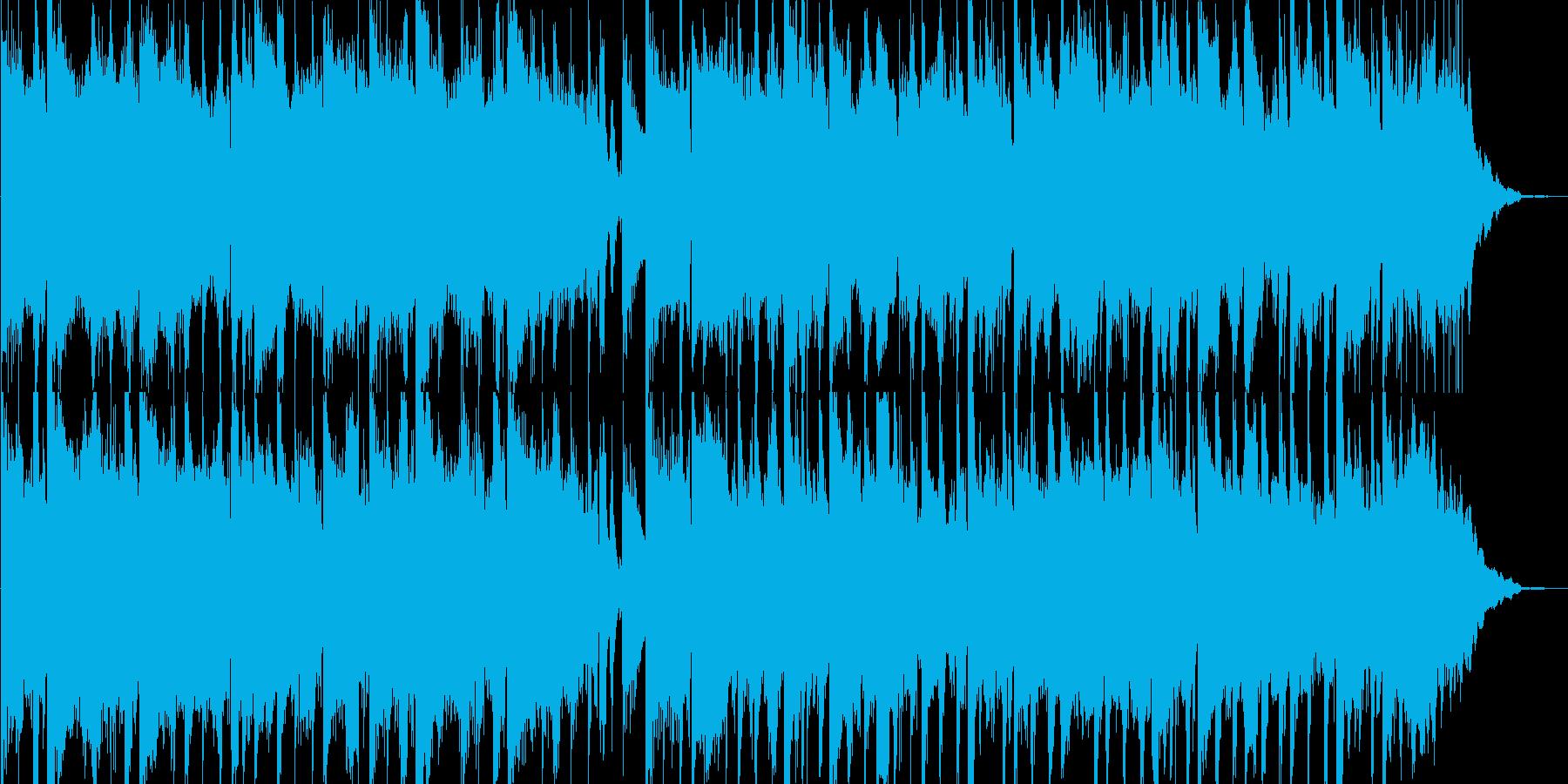 奇妙でちょっとホラーな浮遊感あるBGMの再生済みの波形