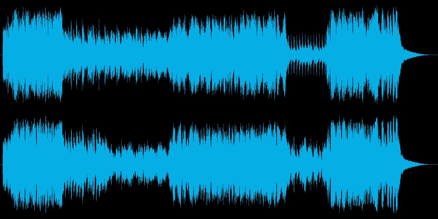 吹奏楽、マーチ、楽しいの再生済みの波形