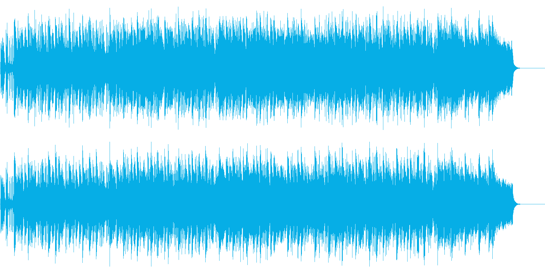 感動のフィナーレを迎えるファンファーレの再生済みの波形