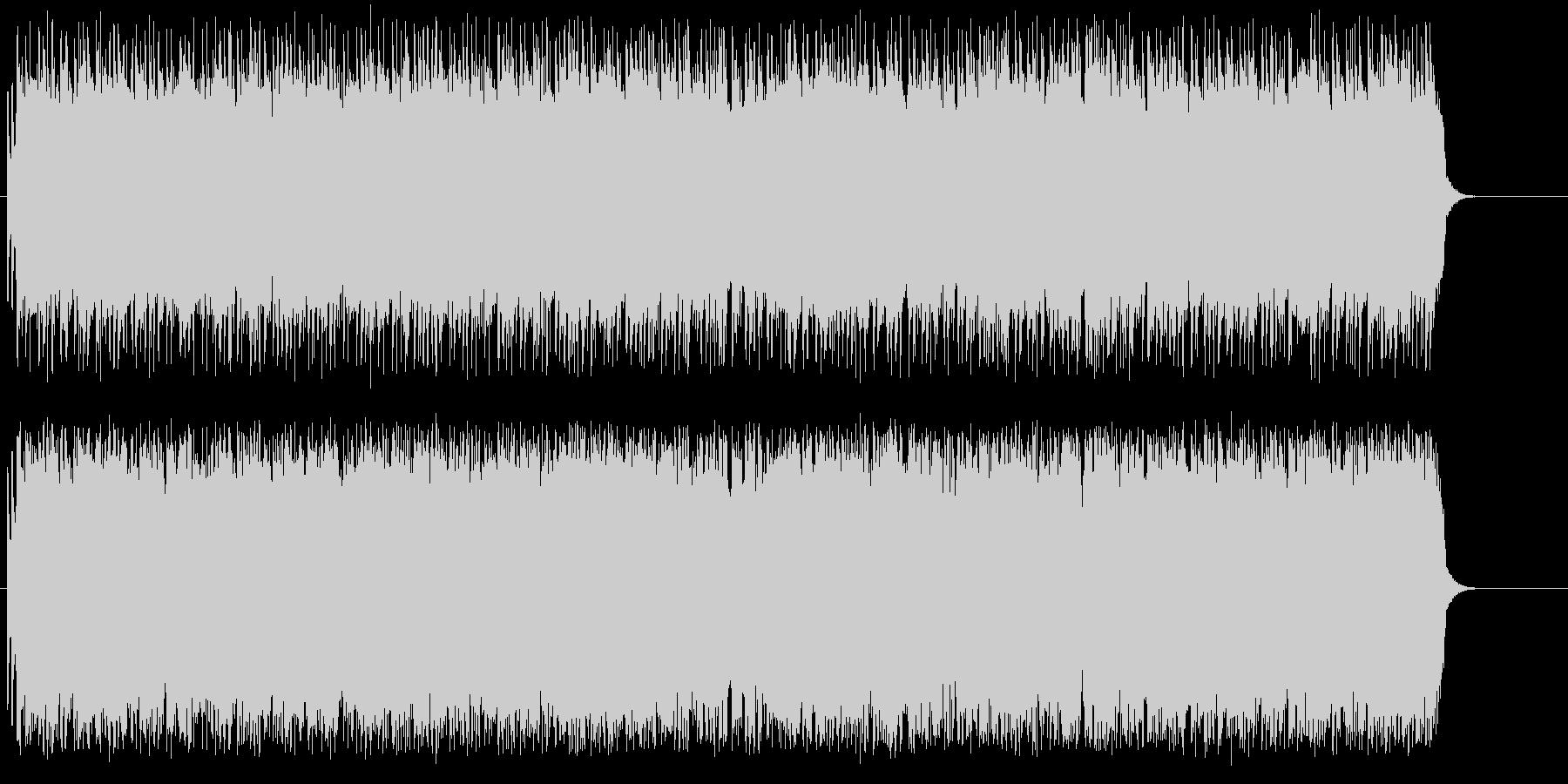 ライブ感覚のうなるギターのオープニングの未再生の波形