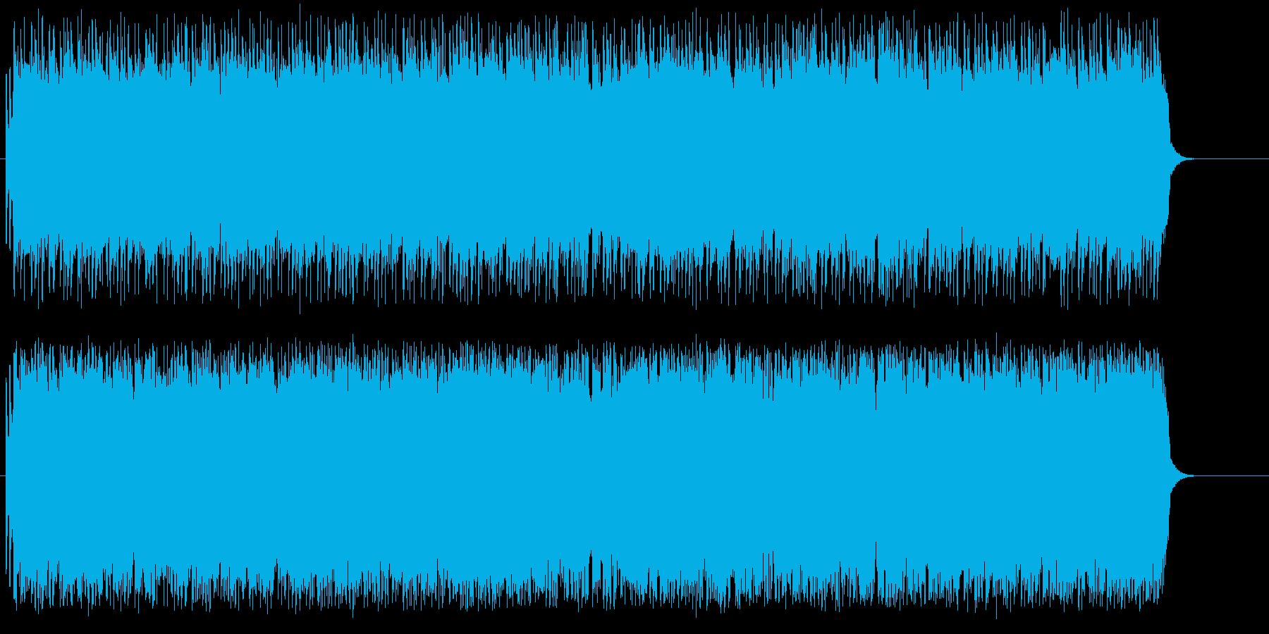 ライブ感覚のうなるギターのオープニングの再生済みの波形