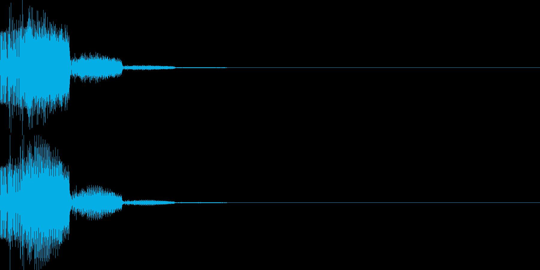 システム音41_シンセYKの再生済みの波形