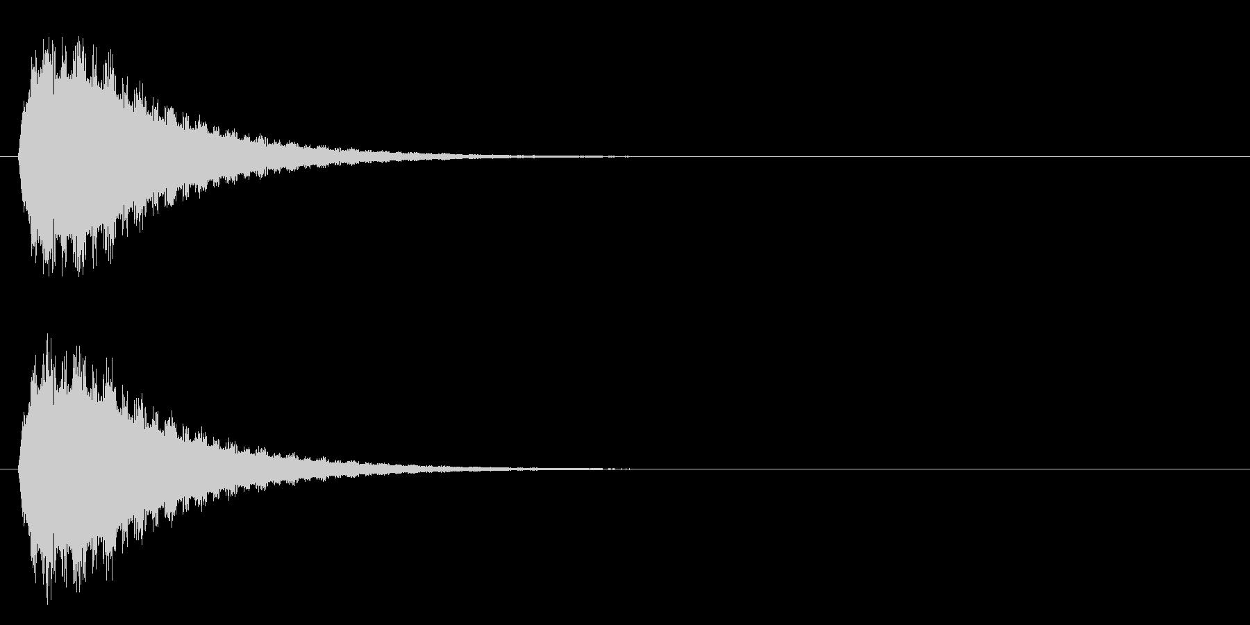 ピィヨォォォンの未再生の波形
