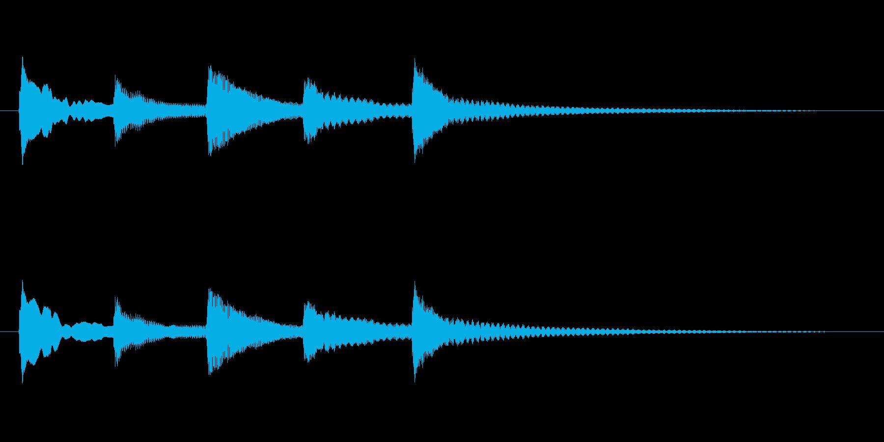 ゆらぎのある和風(琴)の終了音の再生済みの波形