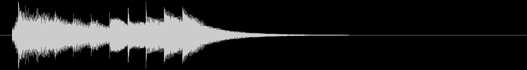 おしゃれで少し切ないオルゴールのジングルの未再生の波形